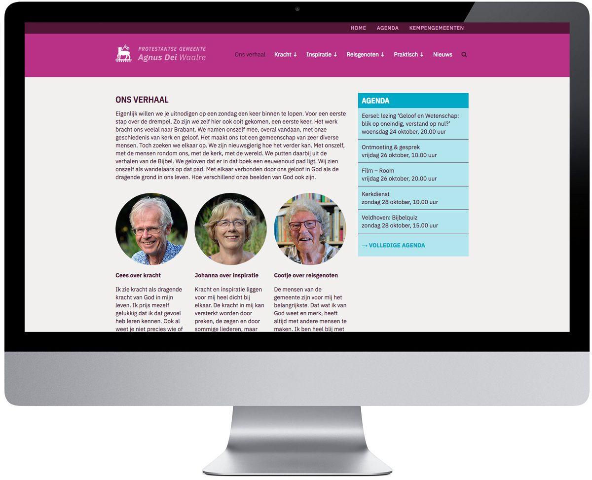 Website AD Kerk, Waalre