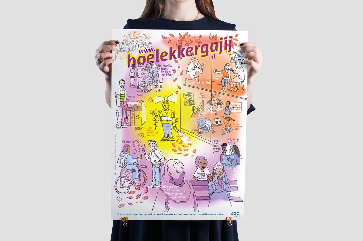 Poster Hoe lekker ga jij, GGD Haaglanden